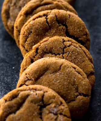 Seriously Soft Molasses Cookies