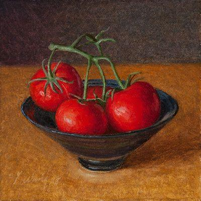 Tomatoes original oil painting a day daily paintwork