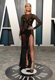 Hailey Bieber Is Channeling Angelina Jolie's Famous Leg Slit at the Oscars Afterparty