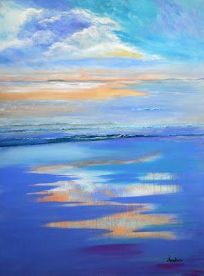 Contemporary Abstract Seascape Painting
