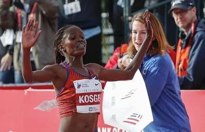 Kenya's Brigid Kosgei smashes 16-year women's marathon world record in Chicago