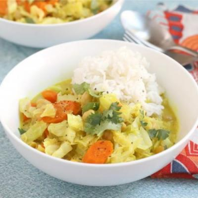 Cabbage Coconut Curry
