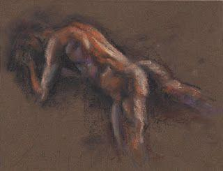 Laying male nude study