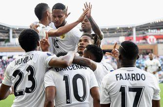 Panama's Edgar Yoel Barcenas scores in Gold Cup, does baby celebration for son's birthday