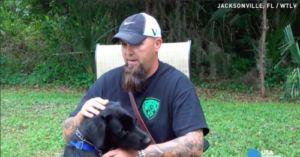Army Veteran Has Panic Attack During Interview. His Service Dog Springs Into Action - On Camera!