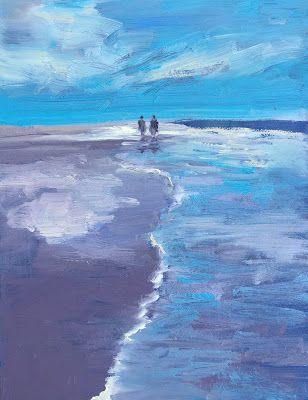 """FIgures on Beach, """"Walking,"""" by Amy Whitehouse"""