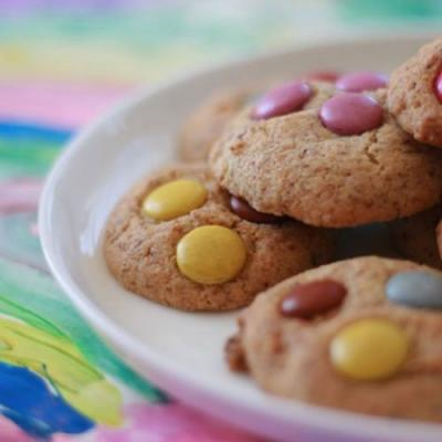 Dotty Cookies with white choc chips