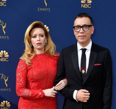 Fred Armisen showed up in fangs to the Emmys - and it's seems to be the latest in a years-long gag