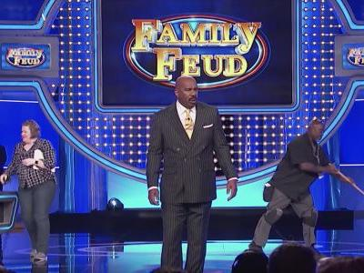 Watch Steve Harvey Respond To Pusha T In A Family Feud Freestyle