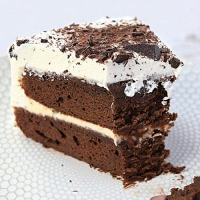 Chocolate Cake with Whipped cream
