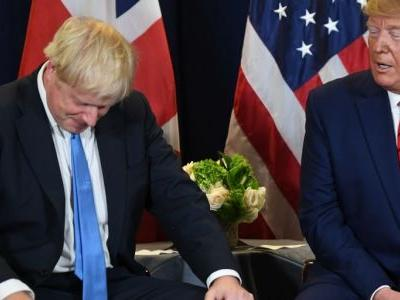 Trump says Boris Johnson's Brexit plan means the US 'can't make a trade deal with the UK'
