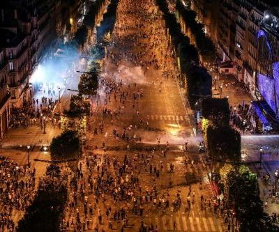 Clashes, road accidents mar French World Cup partying
