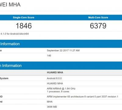 Huawei Mate 9 Spotted Online Running Android 8.0 Oreo