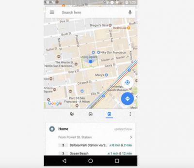 Google Maps Makes It Easier To Find Real-Time Commute Info