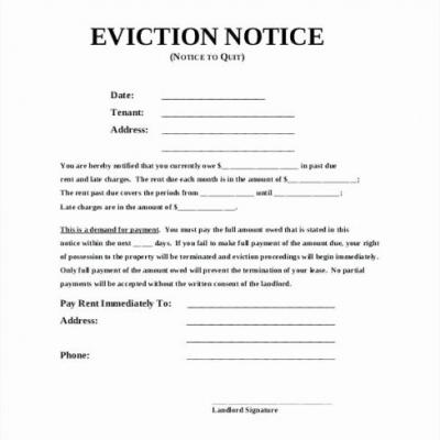 30 Beautiful Florida Eviction Notice Template Pics