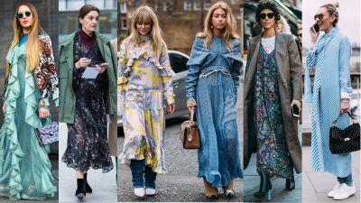 London Fashion Week Showgoers Will Inspire You to Layer a Dress Over Anything