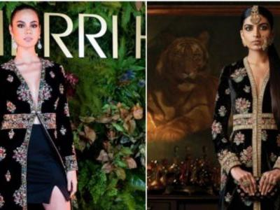 Miss Universe 2018 Catriona Gray wears fake Sabyasachi to New York Fashion Week. Gets burnt