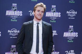 The Latest: McDavid wins Lindsay as most outstanding player