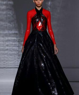 Givenchy Couture was a stripped-back, fetishistic vision of the future