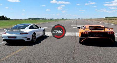 Throwing A Porsche 911 Turbo S At Lambo's Aventador SV Is A Great Idea