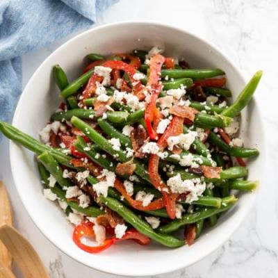 Green Bean, Bacon and Pepper Salad