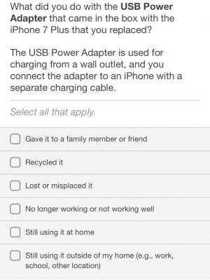 Apple Survey Asks iPhone Users What They Do With Old Power Adapters