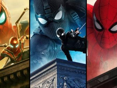 Far from Home Banners Put Spidey's Multiple Costumes on Display