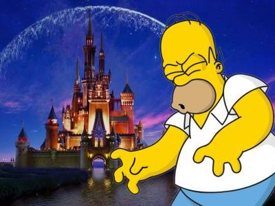 Simpsons Celebrates Disney/Fox Deal With Homer Strangling Mickey Mouse
