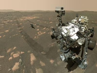NASA's Mars Perseverance Rover Takes Selfie with the Ingenuity Drone