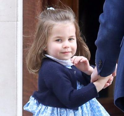 Princess Charlotte upstaged both her brothers by giving crowds outside the hospital a regal wave