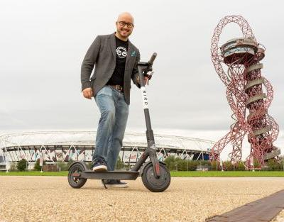Electric scooter sharing start-up Bird launches first UK service in the Olympic Park