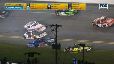 NASCAR Trucks Make It Exactly One Lap Before Huge Wreck