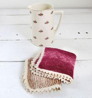 DIY: Make Mum a knitted cotton facecloth