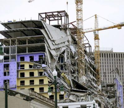 Two dead, 18 taken to a hospital after collapse at Hard Rock Hotel construction site in New Orleans