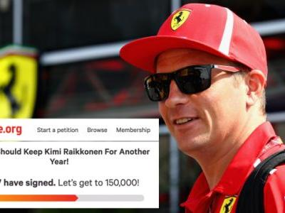 More Than 88,000 People Signed a Change Petition to Keep Kimi Raikkonen on the Ferrari F1 Team