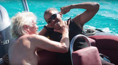 Obama challenged Richard Branson to a kitesurfing contest while on vacation in the Virgin Islands