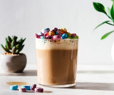 How to Make a Lucky Charms Cereal Milk Latte