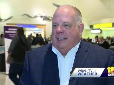 Gov. Hogan's flight among dozens delayed, canceled at BWI