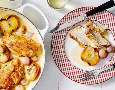 Normandy chicken with cream and cider