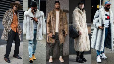 Fur Coats Dominated Street Style at New York Fashion Week: Men's