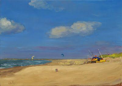 Life at the quiet beach, The Hague, Holland