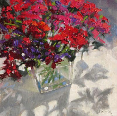 """Festive Flowers"" 8in x 8in oil"