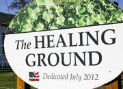 Planting Cabbage on Earth Day in a Healing Ground