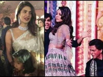 Shah Rukh and Gauri burn the dance floor at Ambani sangeet. Priyanka and Nick were there too
