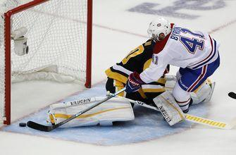 Byron's 2 goals lead Canadiens past Penguins 5-1