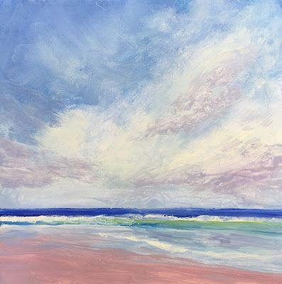 "Contemporary Beach Landscape, ""Serenity,"" by Amy Whitehouse"