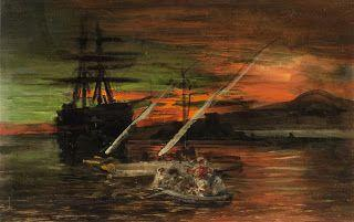 Oswald Achenbach, A Ghost Ship in the Gulf of Naples