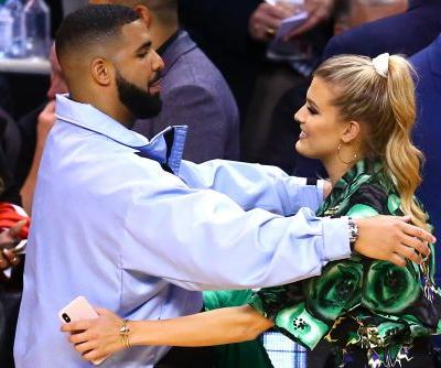Drake hugs it out with Eugenie Bouchard during NBA Finals