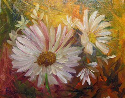 Daisies by Barbara Haviland,flowers,oil painting,Texas Contemporary Artist