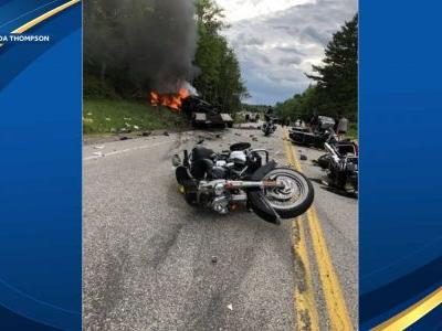 7 killed, 3 hurt in 'tragic' crash involving motorcycles, truck in New Hampshire